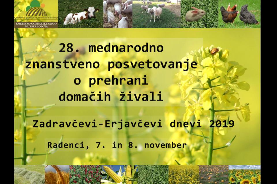 28. mednarodno znanstveno posvetovanje o prehrani domačih živali, ZED 2019, Radenci 7. in 8. november