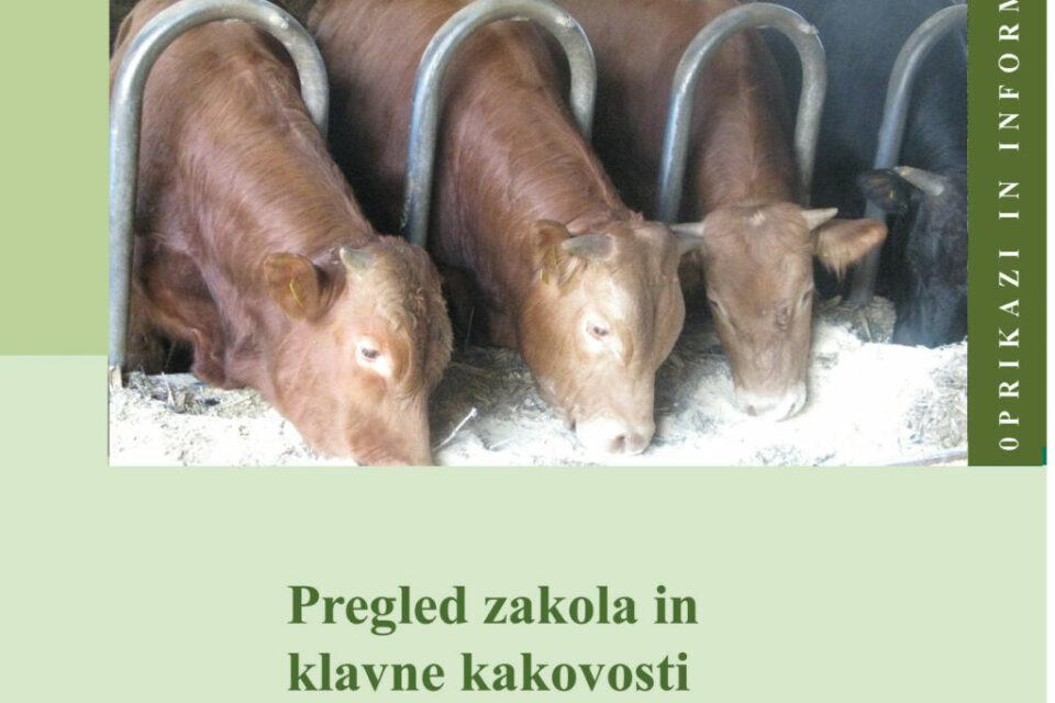 Pregled zakola in klavne kakovosti goved, Slovenija 2020